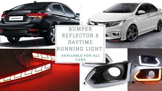 Buy led daytime running light (drl), rear bumper reflector & fog lamp for car