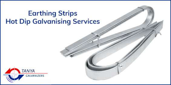 Earthing strips hot dip galvanising services