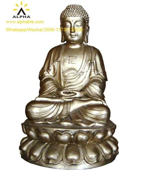 Sitting buddha statues