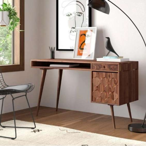 Solid wood million study table with storage
