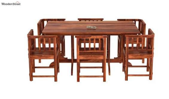 Space saving dining table set