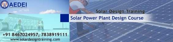 Online solar power plant design course, online solar design classes, delhi
