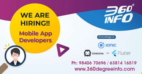 We are looking to hire an experienced mobile developer