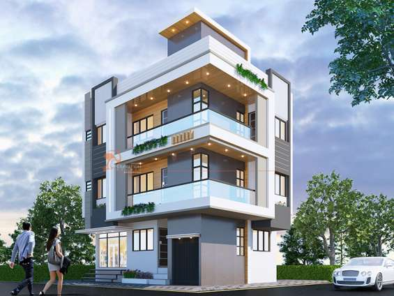 3d exterior rendering services   3d exterior design company   elevation studio
