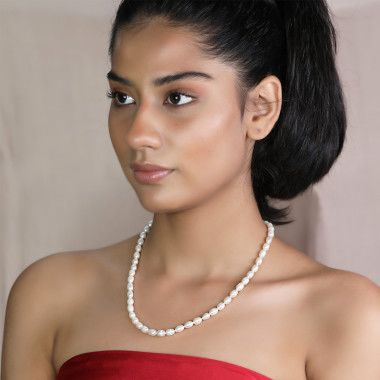 Buy pearl chain or moti mala online in india at ornate jewels