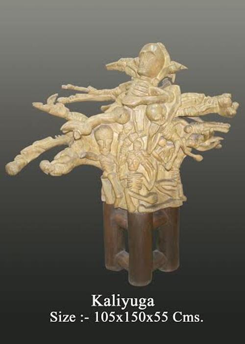 Kaliyuga sculpture by neeraj gupta