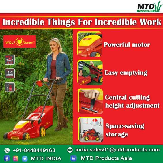 Introducing advanced agriculture equipment like wheeled string trimmer, ride on mower, chi