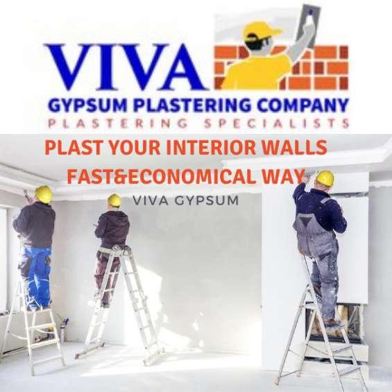 Top gypsum wall plastering services in kerala-viva gypsum