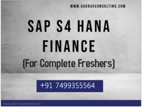 Sap s/4 hana 2020 finance (fico) online training & certification course   gaurav learning