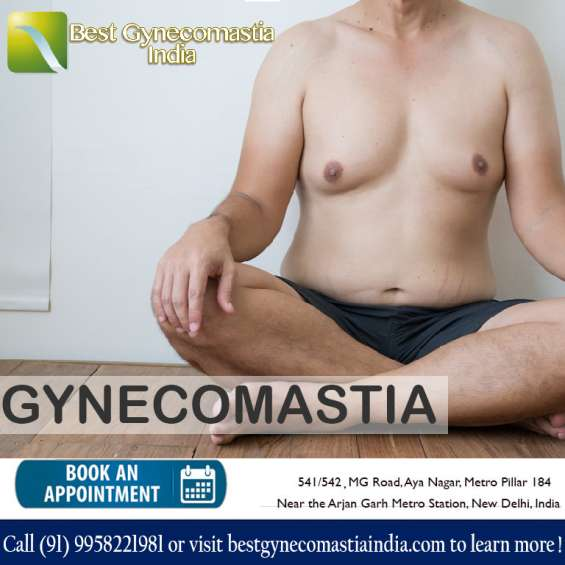 Get best gynecomastia surgery by board certified plastic surgeon in delhi