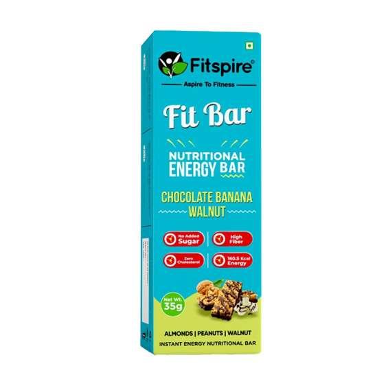 Fit banana chocolate walnut nutritional energy bar