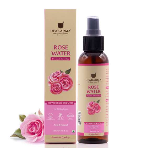 Pure and premium quality rose water in a spray bottle which is travel-friendly and easy to apply.