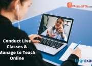 Software for online teaching & online exam