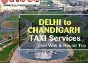 Compare & book delhi to chandigarh cab at lowest price