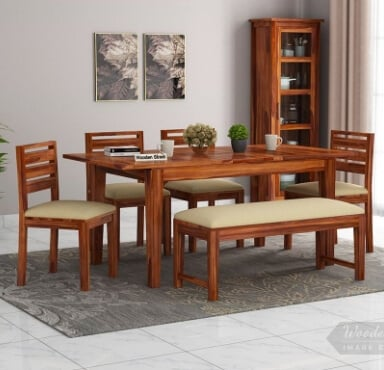 Get the wooden dining table set online @upto 55% off